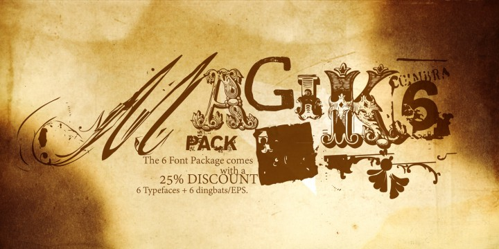 6 Fonts Discount Package